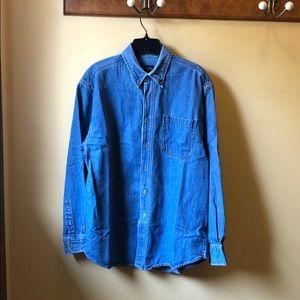Men's Faded Glory denim shirt size medium